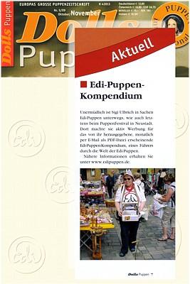 DOLLS Puppen Nr. 5/09 berichtet über das Edi-Kompendium